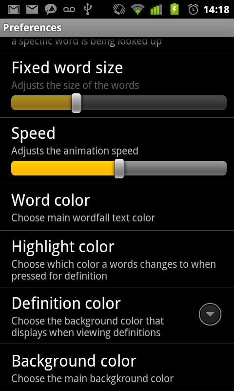 Wordfall- screenshot