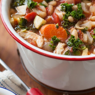 Rustic Turkey Minestrone Soup with Basil Pistou