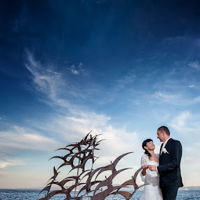 by Zeljko Marcina - Wedding Bride & Groom ( wedding, croatia, sea, split )