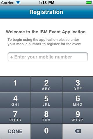 IBM Event App- screenshot