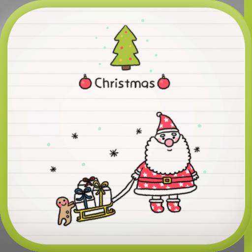 Doodle(Christmas) go locker LOGO-APP點子