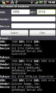 PCI Vendor/Device Database - screenshot thumbnail
