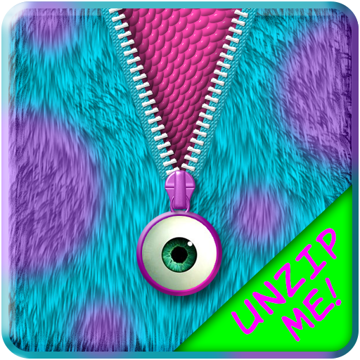 Monster Fur Zipper Lock Screen Android APK Download Free By Jellytap