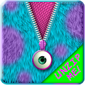 Monster Fur Zipper Lock Screen icon