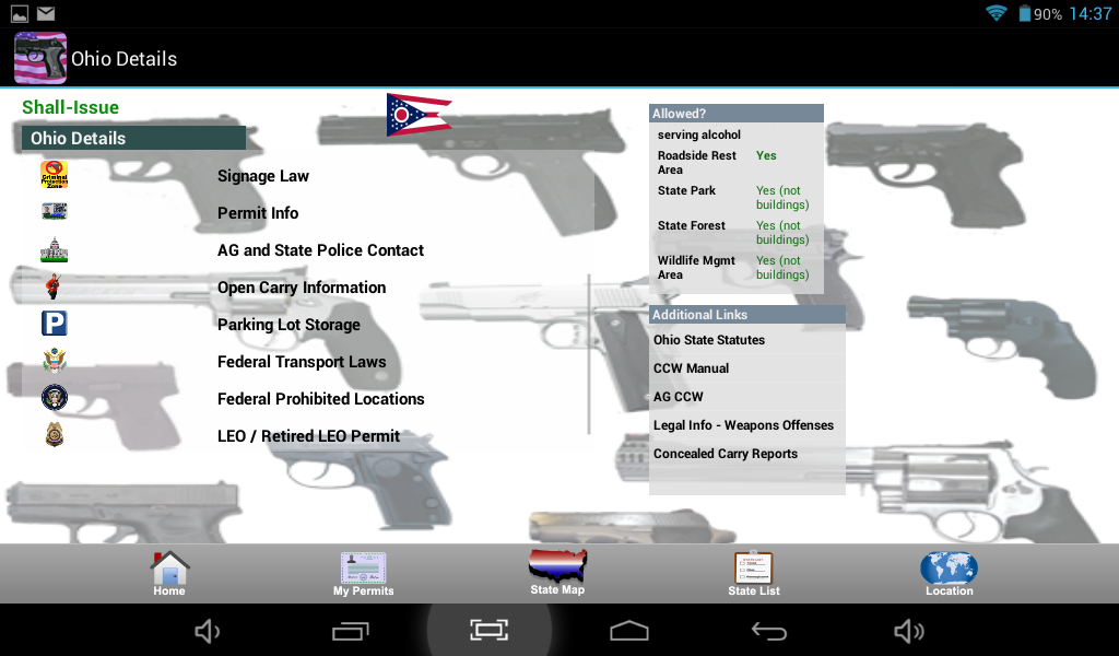 CCW – Concealed Carry 50 State- screenshot
