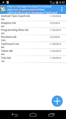TaskCoach for Android - screenshot