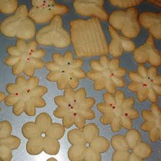 Swedish Ground Almond Spritz Cookies.