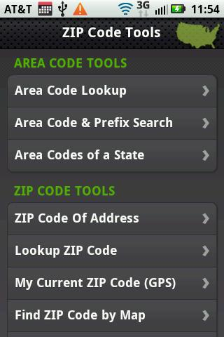 ZIP Code Tools- screenshot
