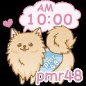 *ポメラニアン48* デジタル時計ウィジェット icon