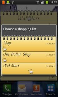 Shopping List Widget- screenshot thumbnail