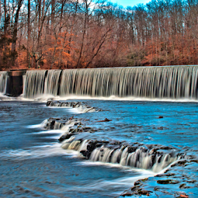 Blue Hole Falls at Old Stone Fort by Steve Rogers - Landscapes Waterscapes ( falls, creek, waterfall, tennessee, avalon-art.com, river )