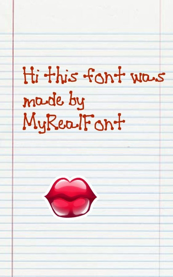 MyRealFont Pro -Make Your Font - screenshot