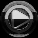 Poweramp skin Black Black icon