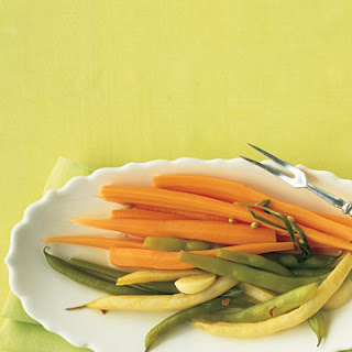 Spicy Pickled Green and Wax Beans