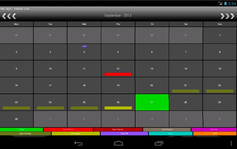 My Days - Period & Ovulation ™- screenshot