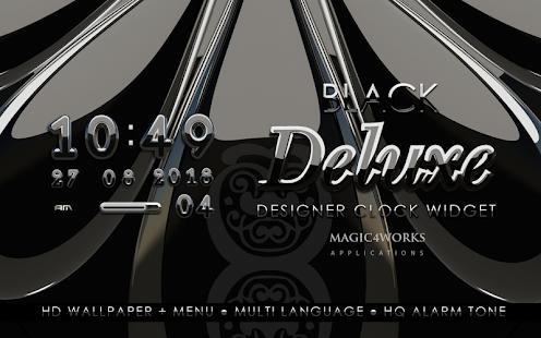 digi clock widget black deluxe