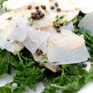 Celery Root & Rocket Salad with Lemon, Capers & Parmesan.