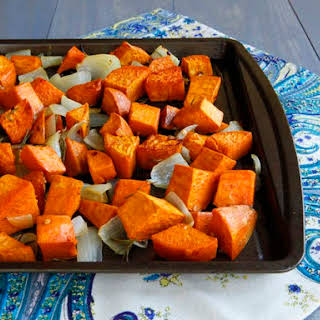 Spicy Roasted Sweet Potatoes.