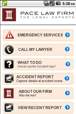 Accident  App by Pace Law- screenshot