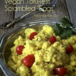 "Vegan Tofu-less Scrambled ""Eggs"""