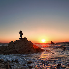 Graced by Flo Yeow - Wedding Other ( flotographysg, mykonos, wedding, sunset, greece, sea, couple, landscape, rocks, sun, silhouette, , Free, Freedom, Inspire, Inspiring, Inspirational, Emotion )