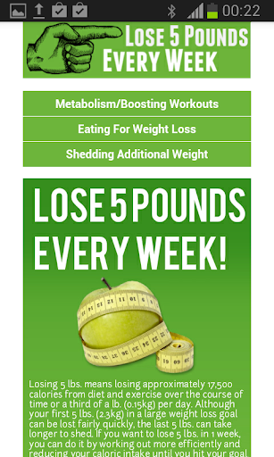 Lose 5 Pounds Every Week