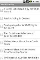 Screenshot of New York Local News
