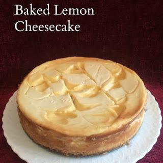 Baked Lemon Cheesecake.