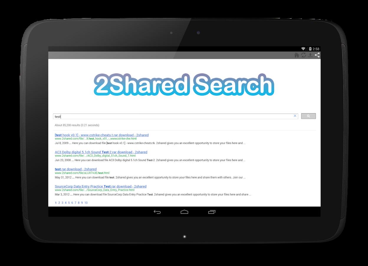 2Shared Search - screenshot