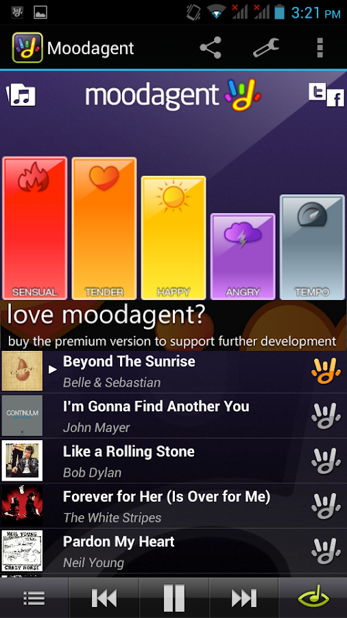 Moodagent Free - screenshot