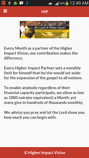 Higher Impact Vision