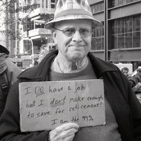 old man at Occupy by Lin Kelly - People Portraits of Men ( occupy;old man; demonstrator,  )