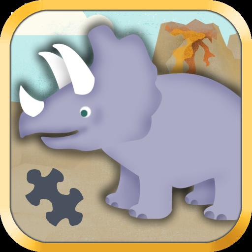 孩子們的恐龍遊戲:幼稚園的可愛恐龍火車拼圖遊戲 - 教育 版 教育 App LOGO-APP試玩