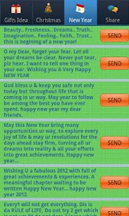 Christmas & New Year SMS- screenshot thumbnail