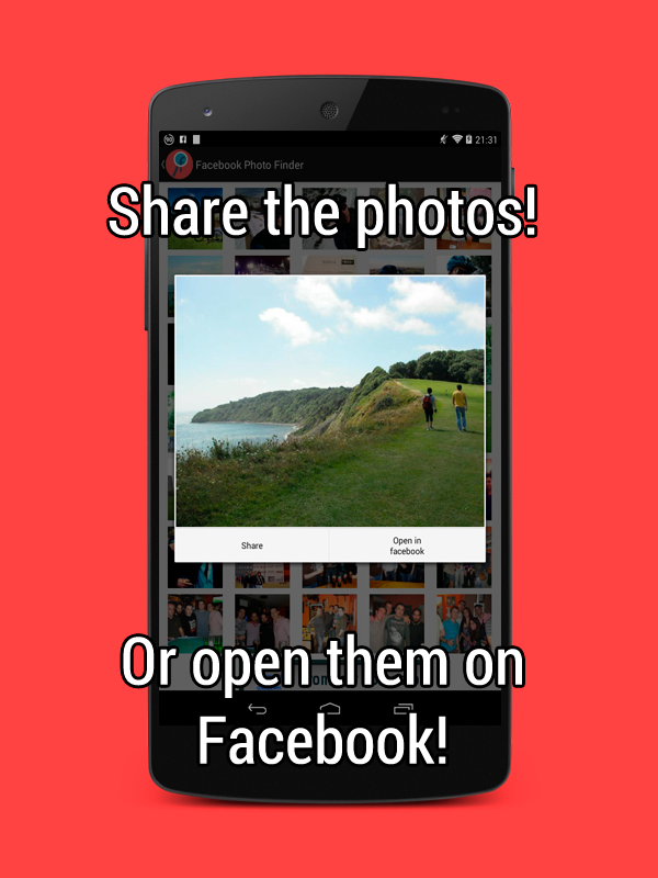 Facebook Photo Finder - screenshot