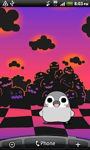 Pesoguin LWP Halloween Free- screenshot thumbnail