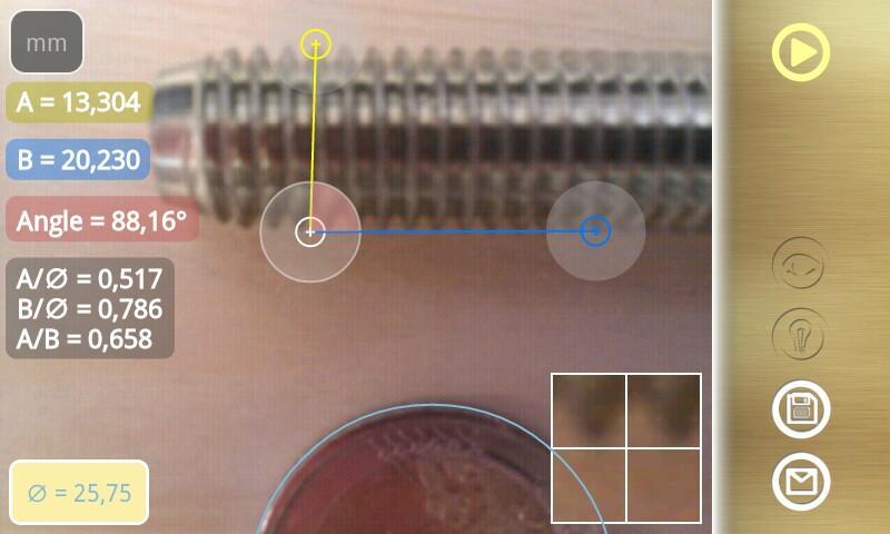 Diskometer - camera measure- screenshot