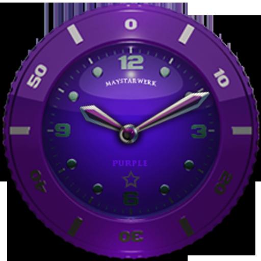Clock Widget Purple Star