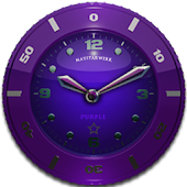 Clock Widget Purple Star