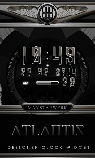 Digi Clock Widget Atlantis