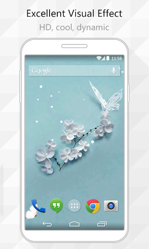Simple White Live Wallpaper