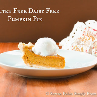 Gluten Free Dairy Free Pumpkin Pie With Coconut Whip Cream