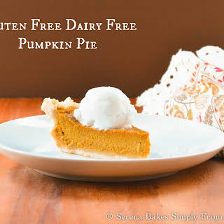 Gluten Free Dairy Free Pumpkin Pie With Coconut Whip Cream.