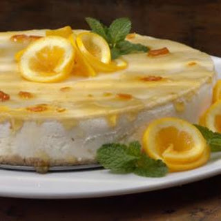 Marmalade-Glazed Orange Cheesecake.