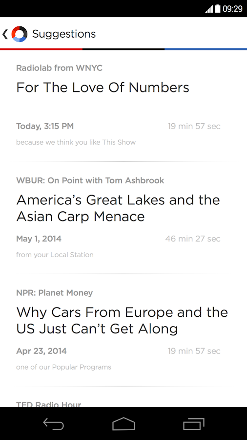 NPR One - screenshot