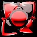 Next Launcher Theme black red icon