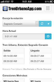 Tren Urbano App- screenshot thumbnail