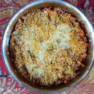 Chicken Parmesan Skillet Pasta.