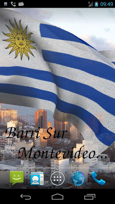 3D Uruguay Flag Live Wallpaper - screenshot