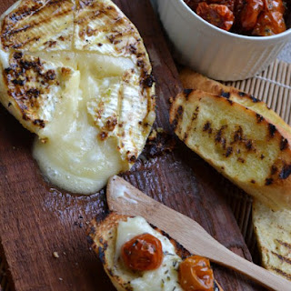 Grilled Brie Topped with Slow-Roasted Sunblushed Tomatoes